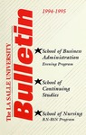 La Salle University Bulletin: School of Continuing 1994-1995  Studies