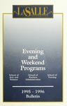 La Salle University Undergraduate Evening Degree Programs Bulletin 1995-1996