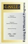 La Salle University Undergraduate Evening and Weekend Programs Bulletin 1996-1997
