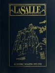 La Salle University Academic Bulletin 1997-1998