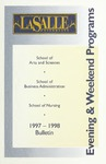 La Salle University Undergraduate Evening and Weekend Programs Bulletin 1997-1998