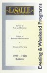 La Salle University Undergraduate Evening and Weekend Programs Bulletin 1997-1998
