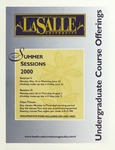 La Salle University Summer Sessions Undergraduate Course Offerings 2000