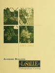 La Salle University Academic Bulletin Undergraduate Catalog 2001-2002