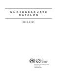 La Salle University Undergraduate Catalog 2004-2005