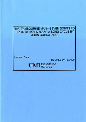 Mr. Tambourine Man - Seven Songs to Texts by Bob Dylan: A Song Cycle by John Corigliano