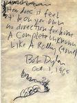 Like a Rolling Stone, handwritten lyrics