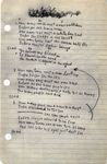 Blowin' in the Wind, handwritten lyrics