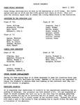 Faculty Bulletin: March 3, 1955
