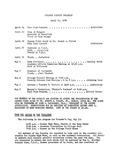 Faculty Bulletin: April 24, 1959