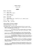 Faculty Bulletin: May 14, 1959