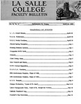 Faculty Bulletin: April 29, 1960