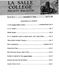Faculty Bulletin: May 17, 1960