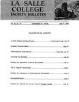 Faculty Bulletin: May 27, 1960