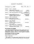 Faculty Bulletin: October 5, 1959