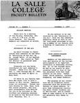 Faculty Bulletin: December 1, 1959