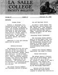 Faculty Bulletin: February 25, 1960