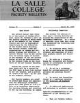 Faculty Bulletin: March 28, 1960