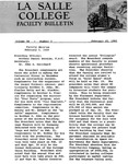Faculty Bulletin: February 10, 1960