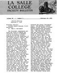 Faculty Bulletin: February 10, 1960