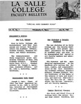 Faculty Bulletin: July 29, 1960