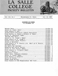 Faculty Bulletin: October 14, 1960