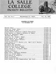 Faculty Bulletin: October 14, 1960