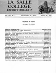 Faculty Bulletin: January 16, 1961