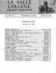 Faculty Bulletin: January 16, 1961