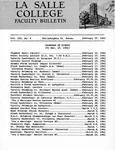 Faculty Bulletin: February 15, 1961
