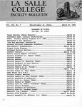 Faculty Bulletin: March 15, 1961