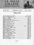 Faculty Bulletin: April 14, 1961