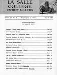 Faculty Bulletin: May 19, 1961