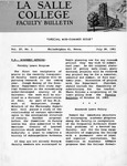 Faculty Bulletin: July 28, 1961