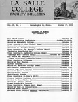 Faculty Bulletin: October 17, 1961