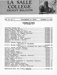 Faculty Bulletin: December 14, 1961