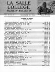 Faculty Bulletin: March 16, 1962