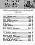 Faculty Bulletin: January 16, 1962