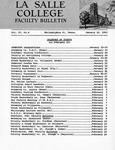Faculty Bulletin: January 16, 1962