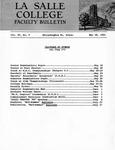 Faculty Bulletin: May 18, 1962