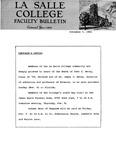 Faculty Bulletin: November 7, 1962 Memo