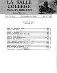 Faculty Bulletin: May 17, 1963
