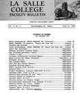 Faculty Bulletin: July 27, 1962