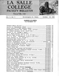 Faculty Bulletin: October 19, 1962