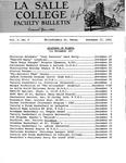Faculty Bulletin: November 17, 1962