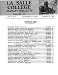 Faculty Bulletin: December 14, 1962