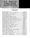 Faculty Bulletin: January 16, 1963