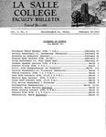 Faculty Bulletin: February 25, 1963