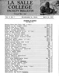 Faculty Bulletin: April 18, 1963