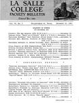 Faculty Bulletin: November 15, 1963